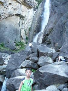 My son Josiah on his way to the Lower Yosemite Falls pool