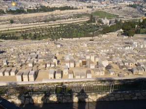 White-washed tombs on the Mount of Olives